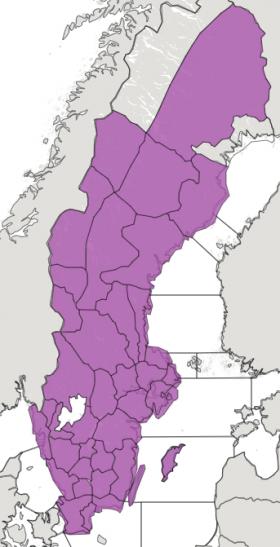 Brandriskkarta på SMHIs hemsida den 31 maj 18.