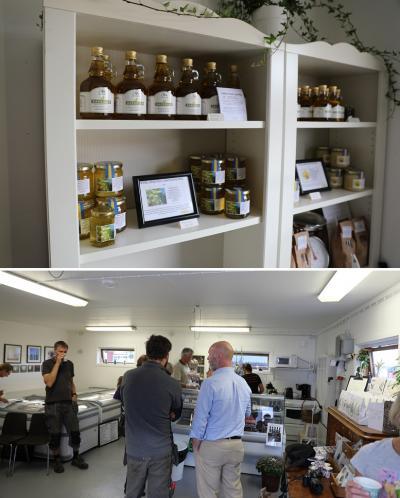 Gårdsbutiken på Kvarnnibble är alldeles nyöppnad. Under äppelsäsongen kommer de att ha öppet to-sö, under vintern minskar man öppettiderna.