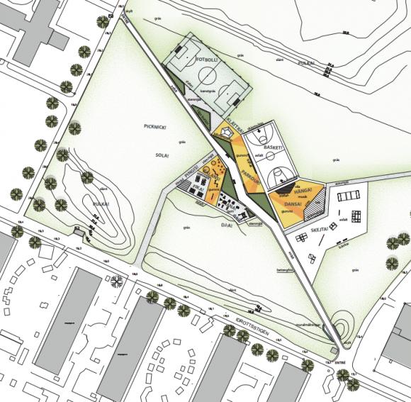 Råbyplan ska bli en aktivitetspark för spontanidrott och kulturaktiviteter.