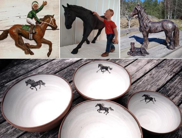 Susanne är keramiker och gör allt från bruksföremål till reliefer och skulpturer.