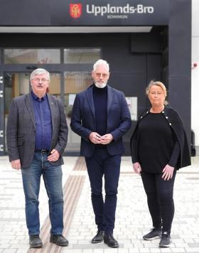Martin Normark (L), Fredrik Kjos (M) och Camilla Janson (S)<br /><span style=\