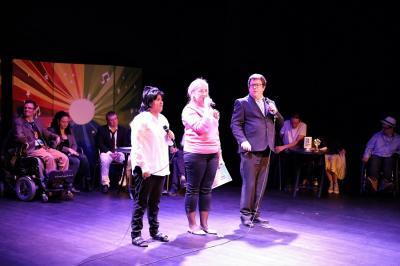 Ingen Funkisfestival utan presentatörer! Fatima, Helena och Daniel höll ordning på showen och på artisterna.