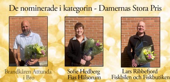 Brandkåren Attunda i Bro, här representerad av Tomas Wrådhe, Sofie Hedberg, Fias Hälsorum, samt Lars Ribbefjord, Fiskbilen och Fiskbutiken.