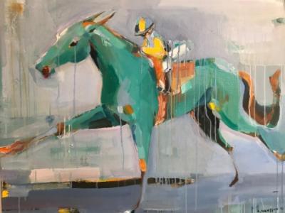 Anne Hansson är en av konstnärerna som ställer ut på Bro Park under Konstgaloppen den 18 november.