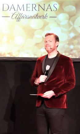 Kristoffer Appelquist, galakvällens konferencier.