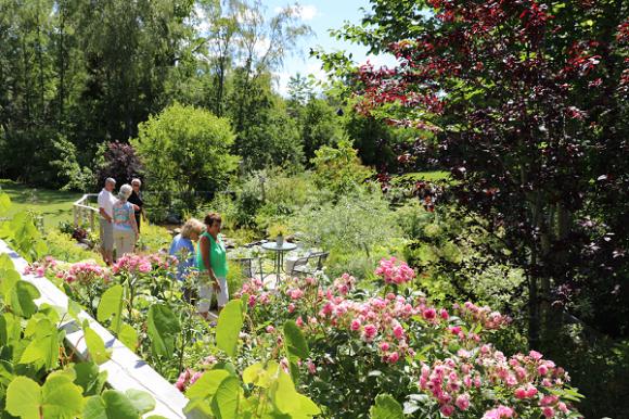 Hemma hos familjen Skånberg i Rättarboda.Trots att deras trädgård \