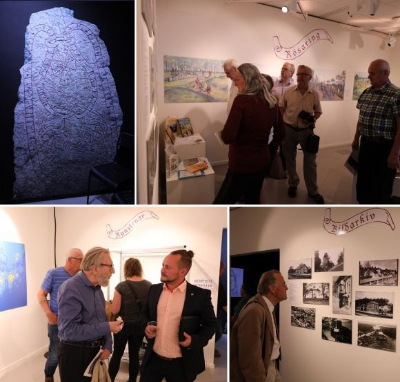 Utställningen innehåller bland annat ett bildspel, montrar med föremål och forntidsmiljöer samt kartor.