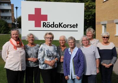 Delar av kärntruppen: Kristina, Riitta, Maj-Britt, Margareta, Marianne, Hedvig, Birgitta, Lisbeth.