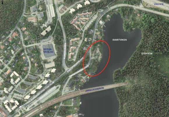 Översiktskarta över Svartviken och delar av Kungsängen.