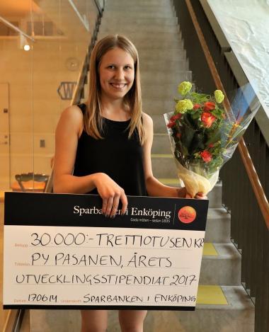 Py Pasanen heter årets Utvecklingsstipendiat i Upplands-Bro kommun.