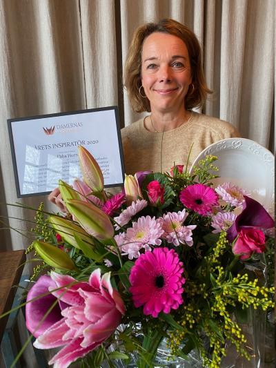 Ebba Horn är Årets Inspiratör 2020. Priset delas ut nu i april 2021, men fås för året som gick.