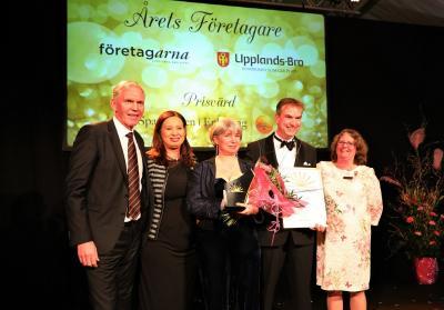 Årets Företagare i Upplands-Bro 2018 blev Anna och Fredrik Thorburns familjeföretag Frewito som startades år 2000.