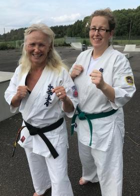 Nina Engqvist och My Pasanen startar föreningenTatakai Kyokushin Bro